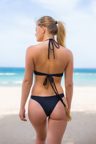 NEVIANO 05 TRIKINI 2018 NOIR / DORÉ | TANGA - MADE IN FRANCE -  WITH INTEGRATED UV SENSOR