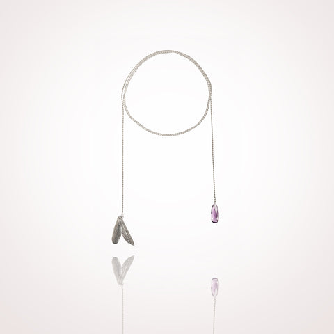 Koi Wrap necklace Amethyst
