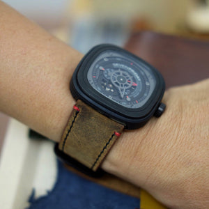 SevenFriday Vintage Distressed Brown
