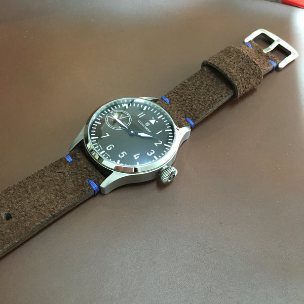 Suede Dark Brown Watch Strap #01