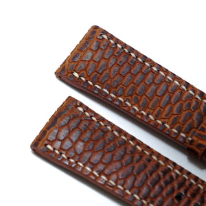 Beaver Full Stitching Watch Strap #02 Mud Flats