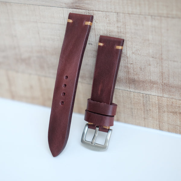 Pull Up Burgundy Watch Strap #01