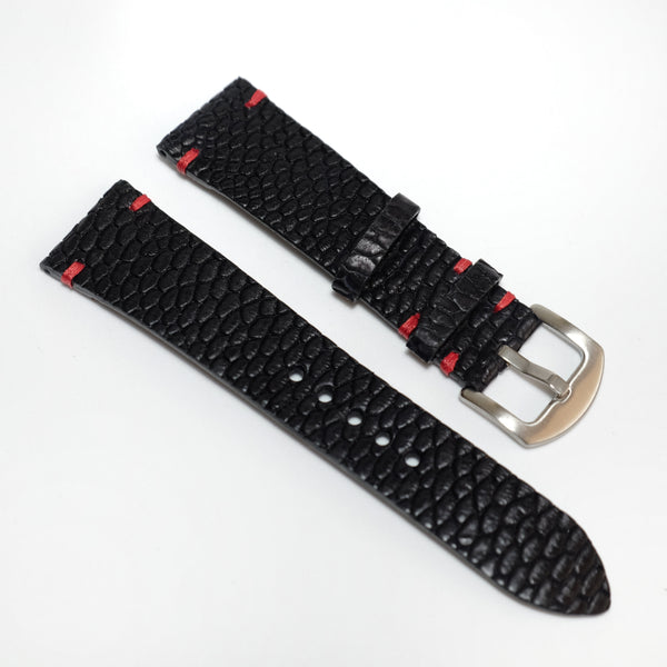 Beaver Vintage Stitch Watch Strap #01 Black