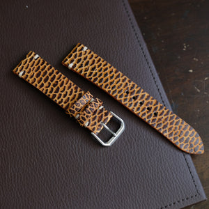 Beaver Vintage Stitch Watch Strap #01 2 Tone Brown