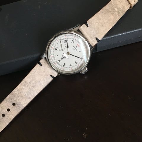 Cream Camel Distressed Watch Strap #01