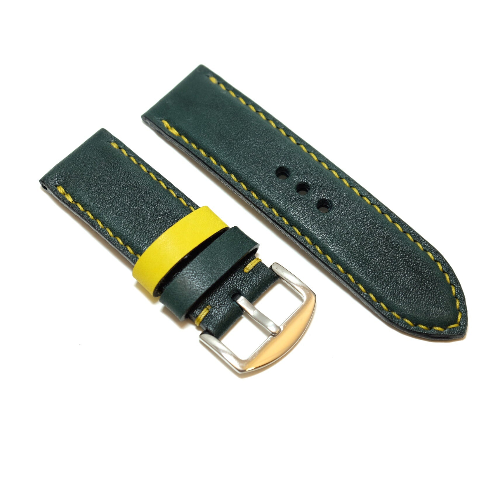 Forest Green Full Stitching Watch Strap #02