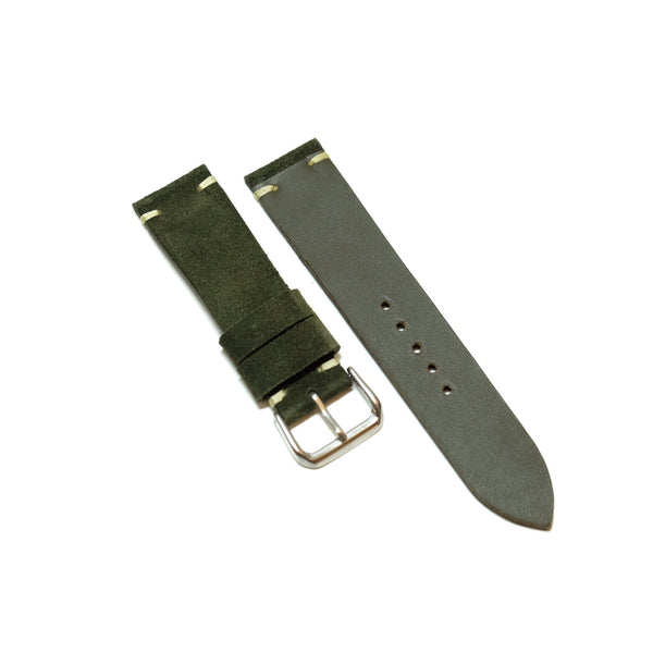 Suede Olive Green Watch Strap #01