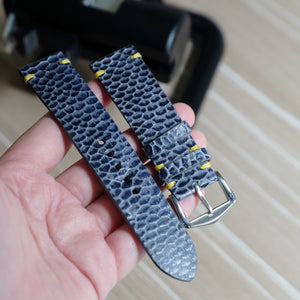 Beaver Vintage Stitch Watch Strap #01 Navy Blue