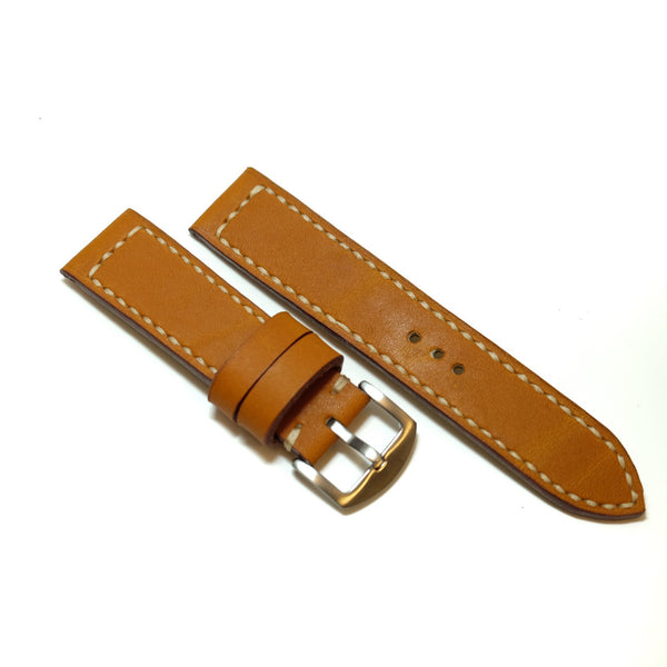 Tanned Brown Full Stitching Watch Strap #03