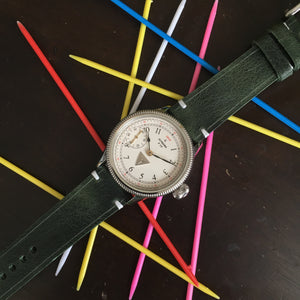 Green Distressed Watch Strap #01