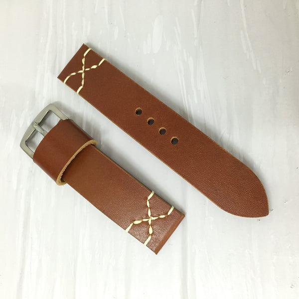 Italian Brown X01 Watch Strap