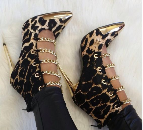 Hollywood Leopard High Heels Clubbing Sandals