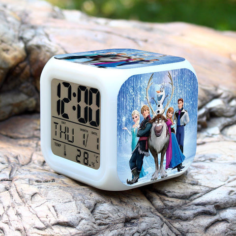 CLEARANCE: LED Clock with Frozen characters