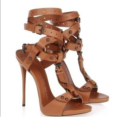 European High-Heeled Fashionable Sandals