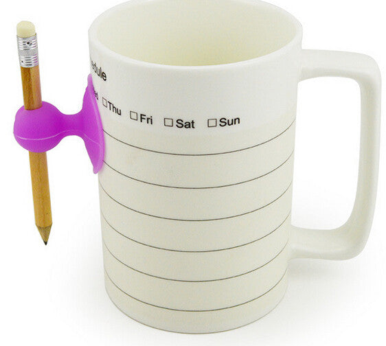 CLEARANCE: Weekly Plan magic ceramic coffee cup