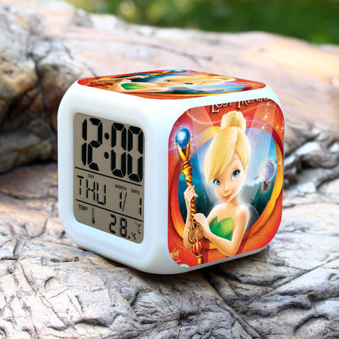 CLEARANCE: LED Clock with Tinker bell characters
