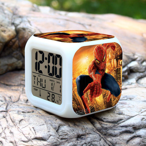 CLEARANCE: LED Clock with Spiderman character