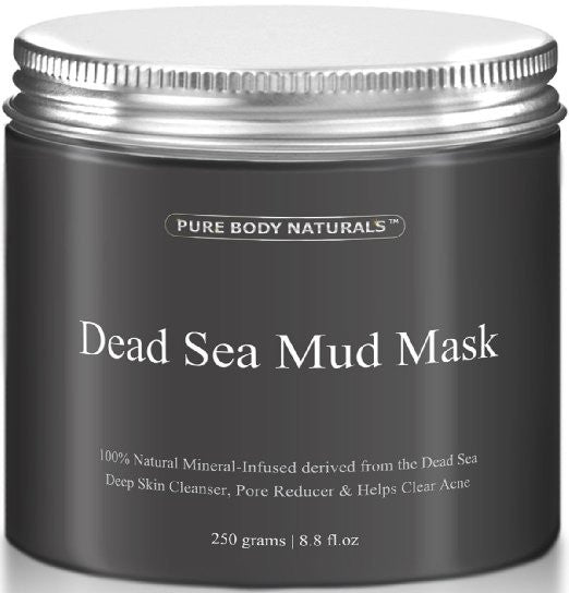 CLEARANCE: Dead Sea Mud Mask, 250g/ 8.8 fl. oz. - Facial Treatment, Minimizes Pores, Reduces Wrinkles