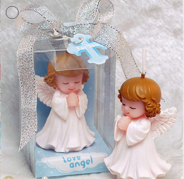 CLEARANCE: Baby Shower Candles Set - Cute Angel