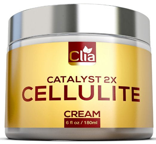 CLEARANCE: Clia Cellulite Slimming Cream HUGE 6 OZ - Dimple Remover & Natural Firming Lotion for Arms, Legs & Stomach