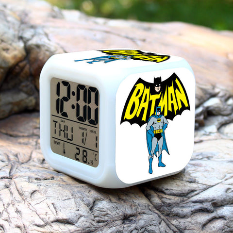 CLEARANCE: LED Clock with Batman character