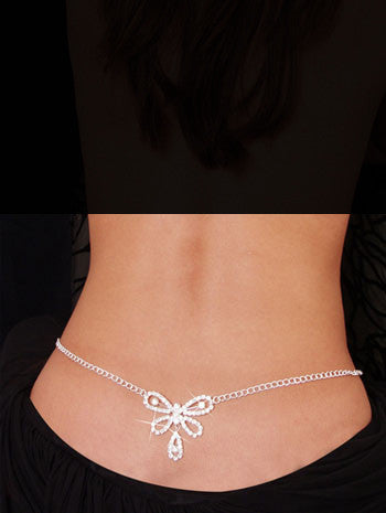 Stylish Beach Accessories - Belly Chain and Lower Back - Butterfly