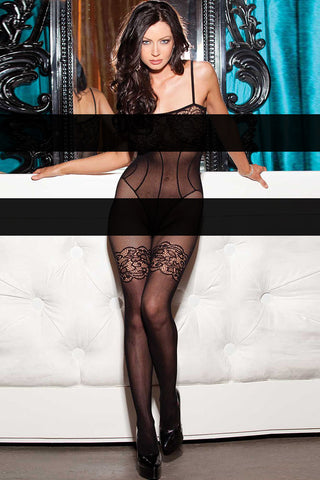 Body Stocking - Floral Lace and Fishnet Body stockings