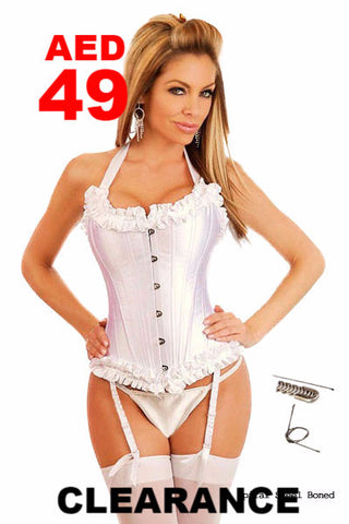Clearance - Corset - White Elegant & Sassy Fitting lace up Corset