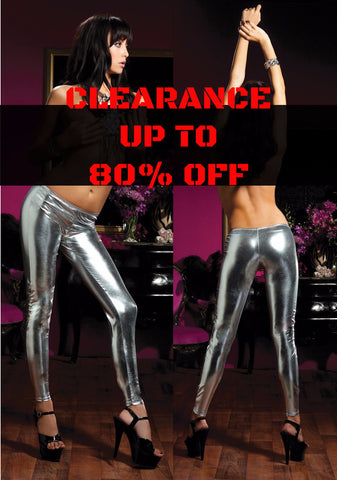 Legging - Leatherlook Silver