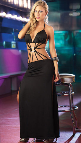 Gown - Long Strappy Front Gown