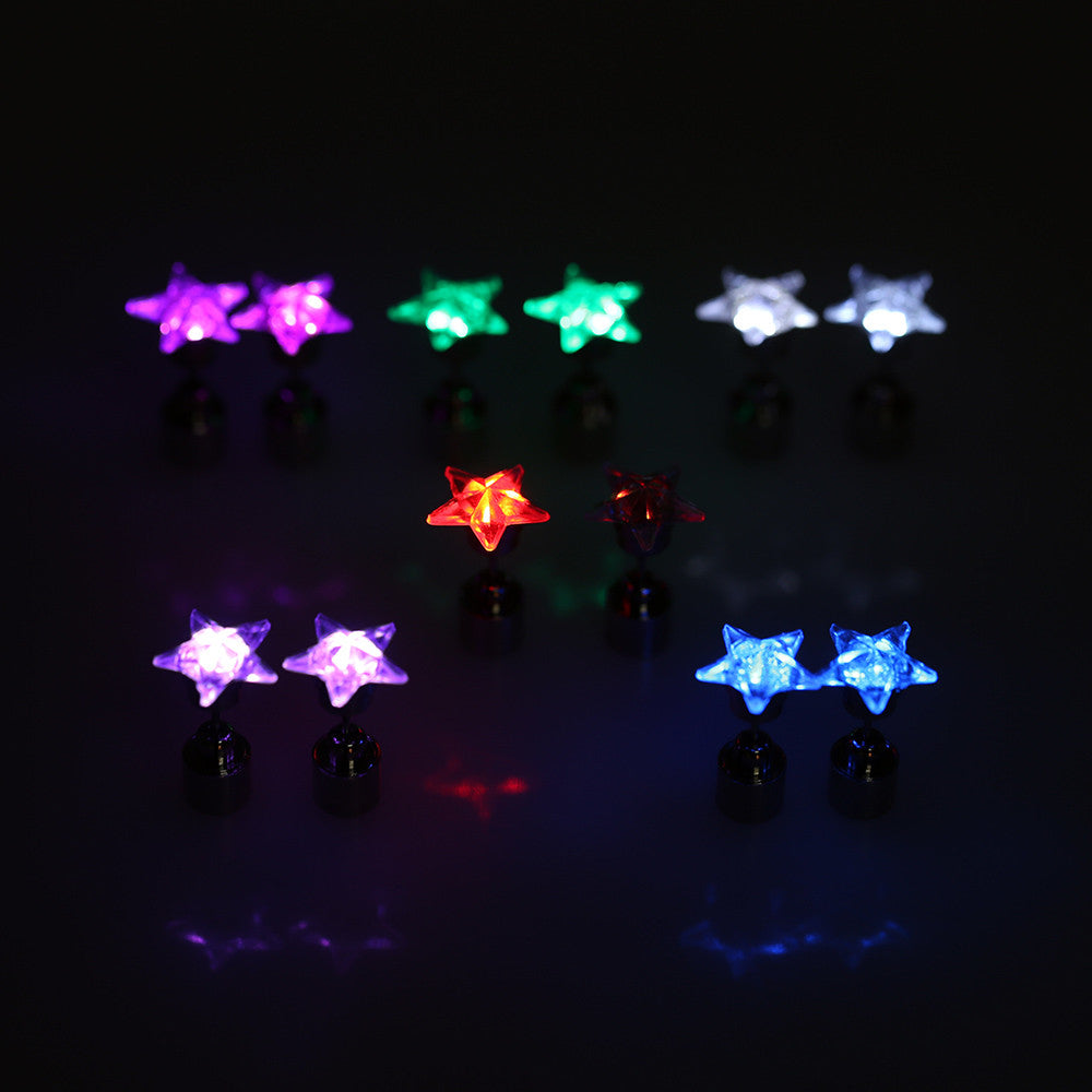 CLEARANCE: LED Star shape earrings