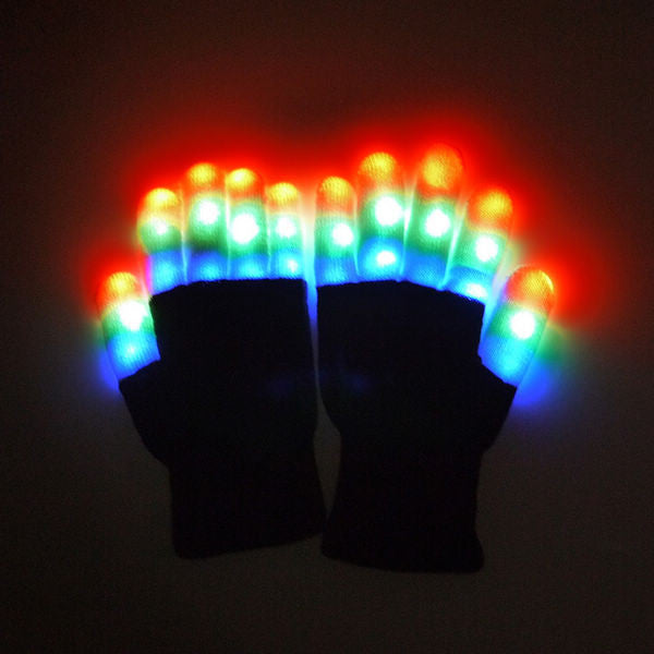 CLEARANCE: LED flashing gloves