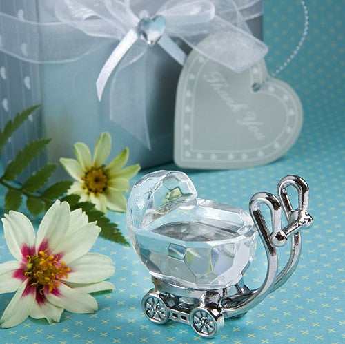CLEARANCE: Baby Shower Favor set - Cute crystal cradle