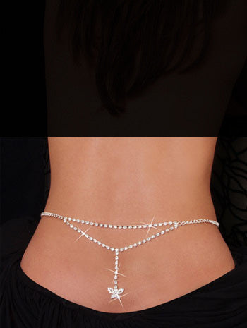 Stylish Beach Accessories - Belly Chain and Lower Back - Small Butterfly
