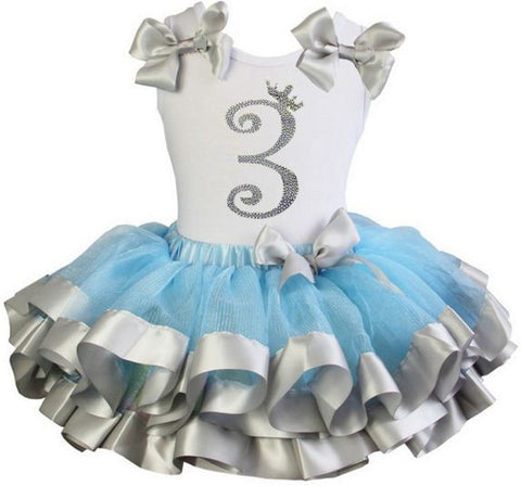 Cinderella Princess tutu dress with Number 3 on it