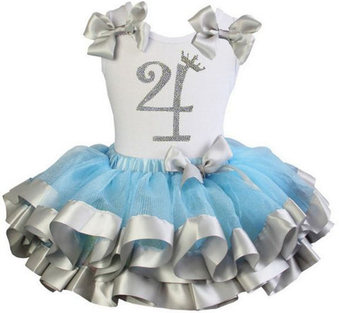Cinderella Princess tutu dress with Number 4 on it
