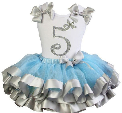Cinderella Princess tutu dress with Number 5 on it