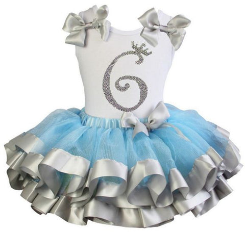 Cinderella Princess tutu dress with Number 6 on it