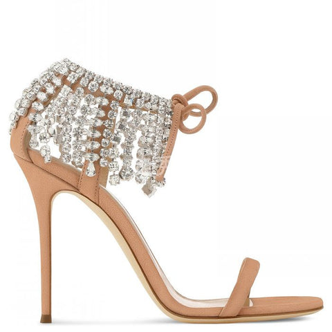 CLEARANCE: Suede Elegant high heels Diamond Sandals