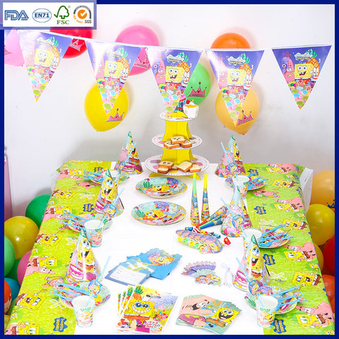 CLEARANCE: Sponge Bob theme party set for 10 people