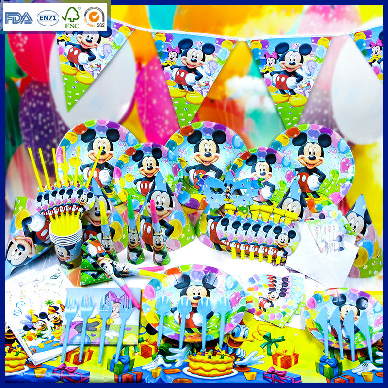 CLEARANCE: Mickey Mouse theme party set for 10 people