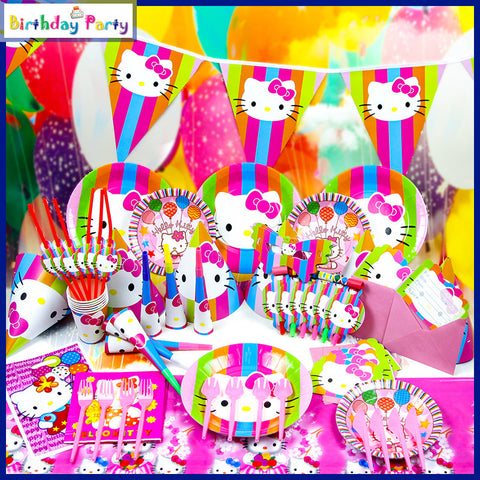 CLEARANCE: Hello Kitty theme party set for 10 people