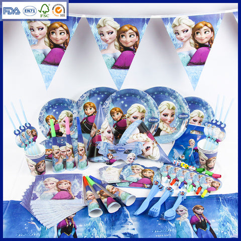 Frozen theme party set for 10 people
