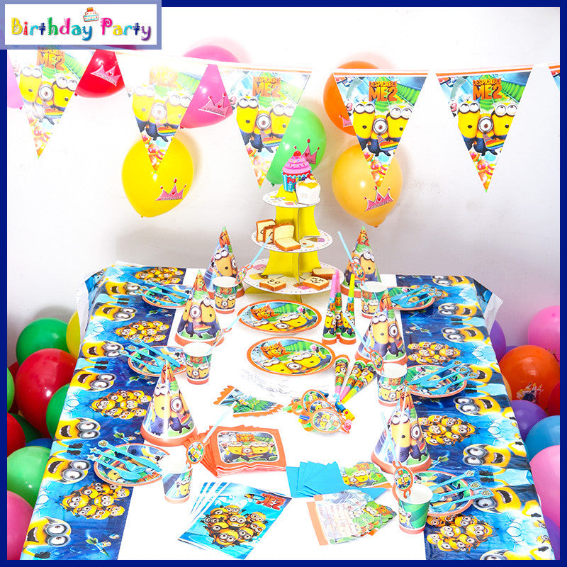 Minions theme party set for 10 people