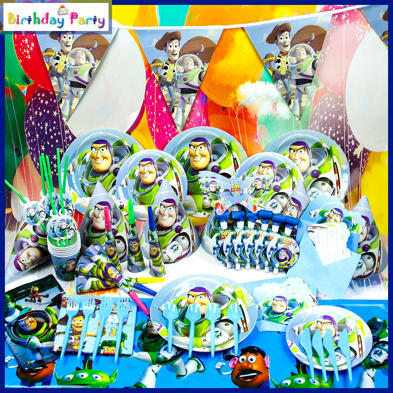 CLEARANCE: Toy Story theme party set for 10 people