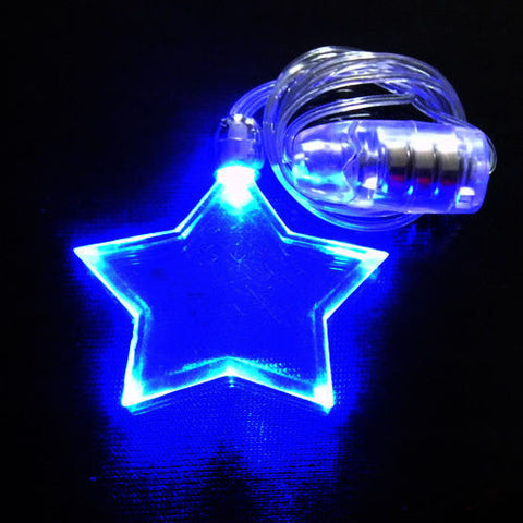 CLEARANCE: LED star shape necklace