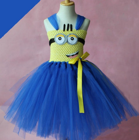 Despicable Me Minions Cute Tutu Dress (2 to 8 Years)