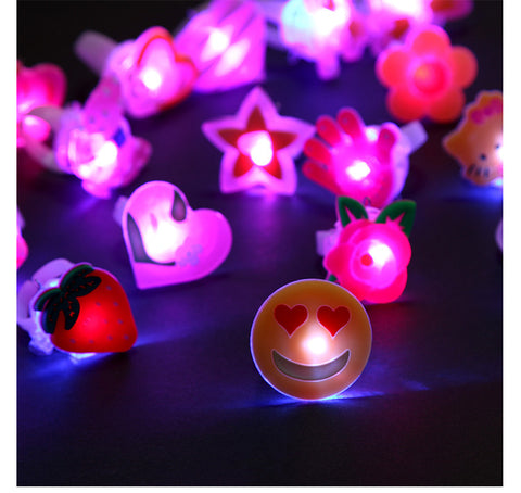 12 PCS Flashing Jelly LED Ring