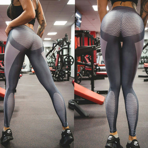 NEW Sport Tight Hexagon Running Field Workout Tights
