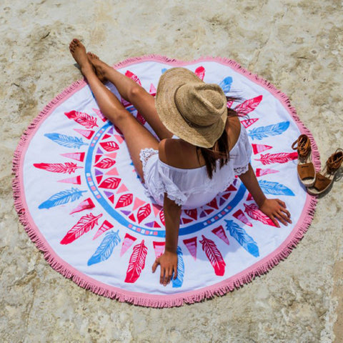 Fashionable Round Beach Towel Swimwear Cover Up